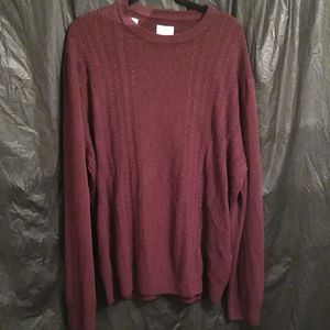 Dockers burgundy cable knit print sweater XXL